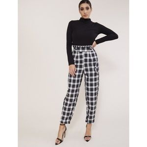 [public desire] check tapered trousers